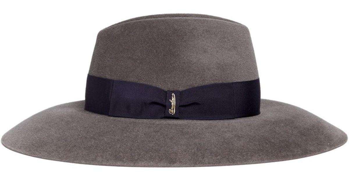 1b5415324fd Lyst - Borsalino  sophie  Wide Brim Velour Furfelt Hat in Gray