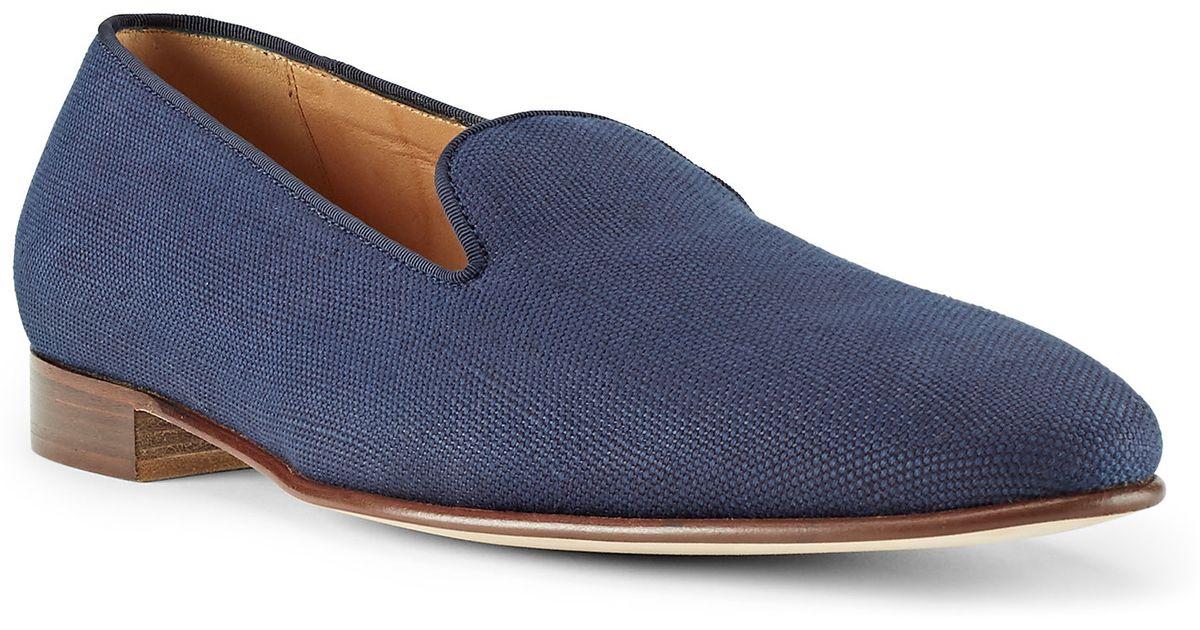 2196d572e293 Ralph Lauren Purple Label Collis Linen Slipper in Blue for Men - Lyst