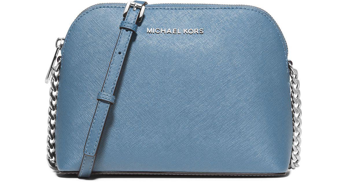 aec6123cc MICHAEL Michael Kors Cindy Large Dome Saffiano Crossbody Bag in Blue - Lyst