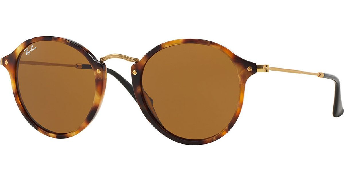35d21b217b2 Lyst - Ray-ban Vintage Tortoise Round Sunglasses in Brown