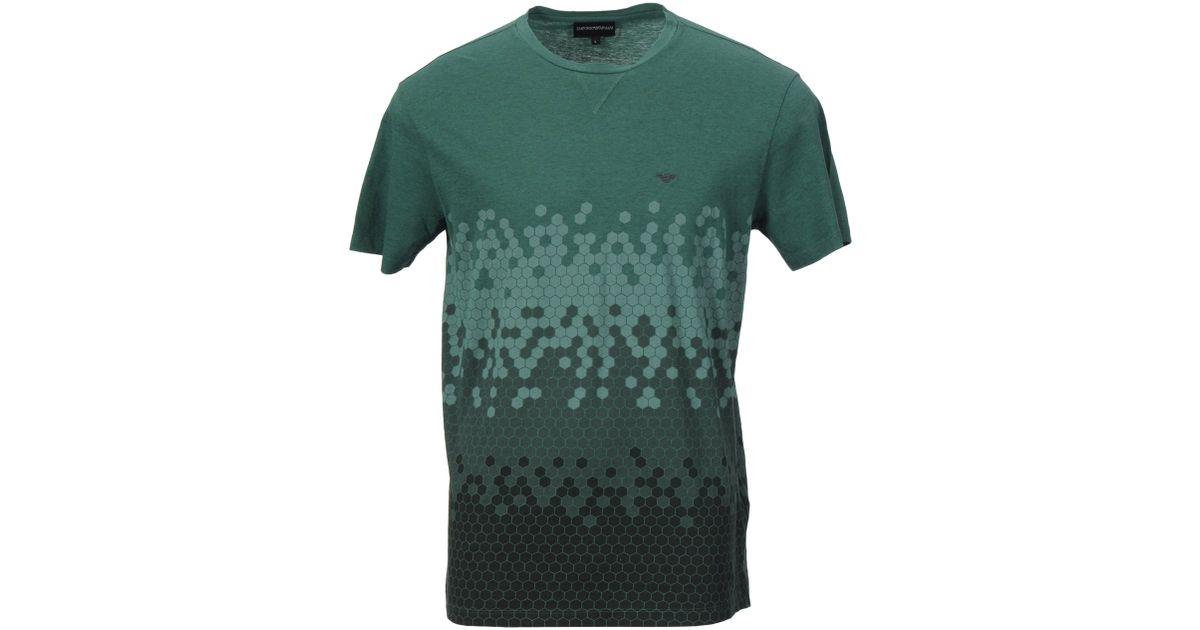 emporio armani t shirt in green for men lyst. Black Bedroom Furniture Sets. Home Design Ideas