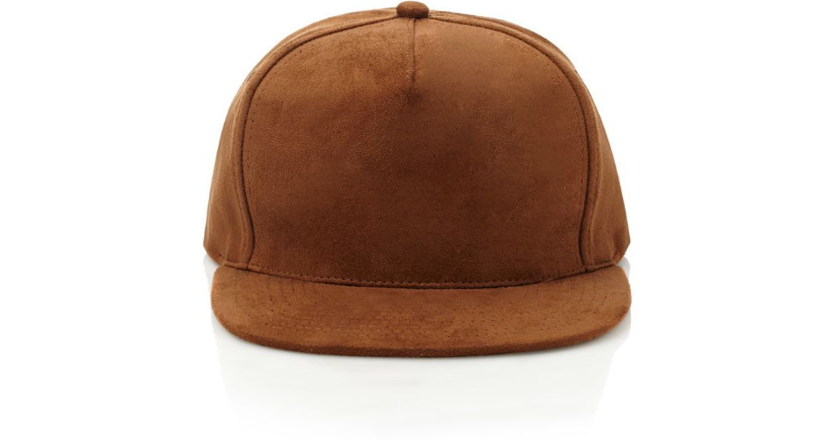 Lyst - Forever 21 Faux Suede Snapback Hat in Brown for Men 5532a6c9a75
