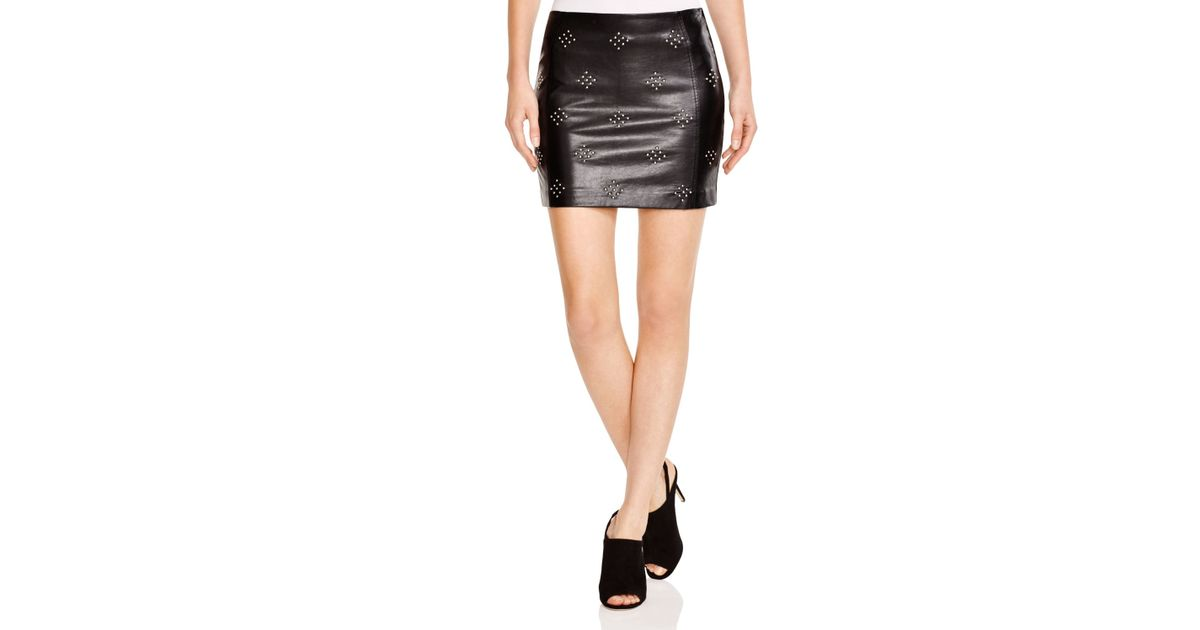 Lucy paris Studded Faux Leather Mini Skirt - Bloomingdale's ...