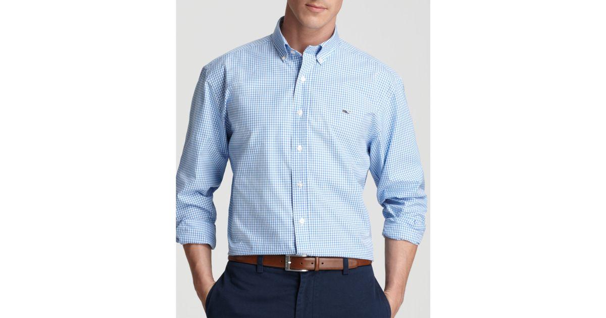 Vineyard vines gingham whale button down shirt classic for Blue gingham button down shirt