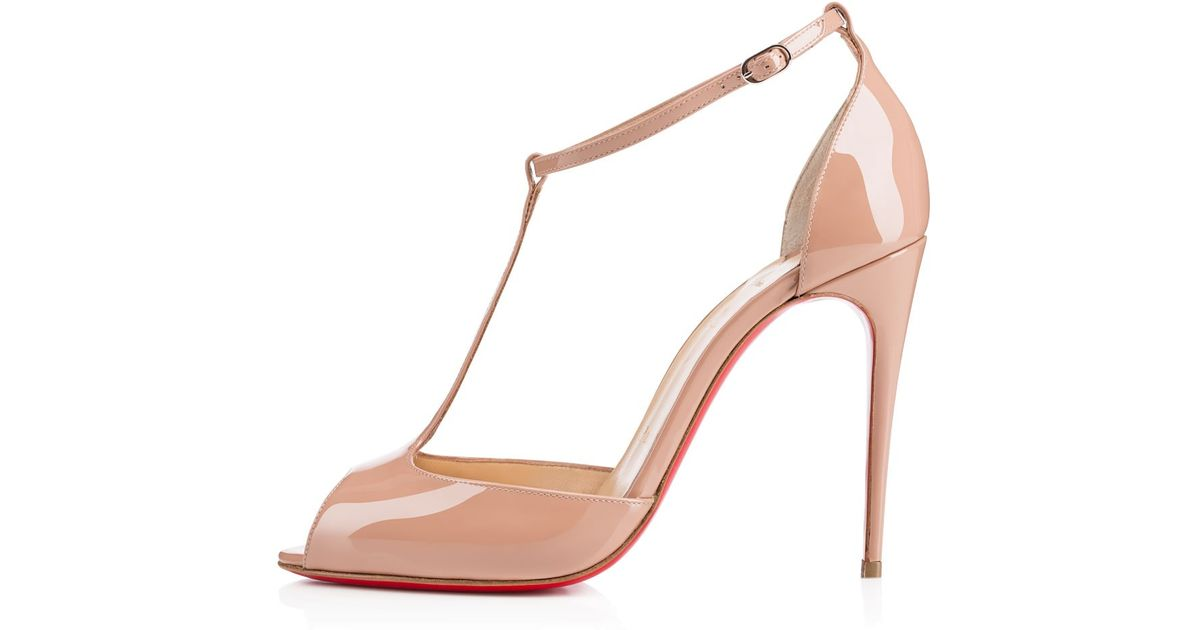 2cc02c5bfb7 Lyst - Christian Louboutin Senora in Natural