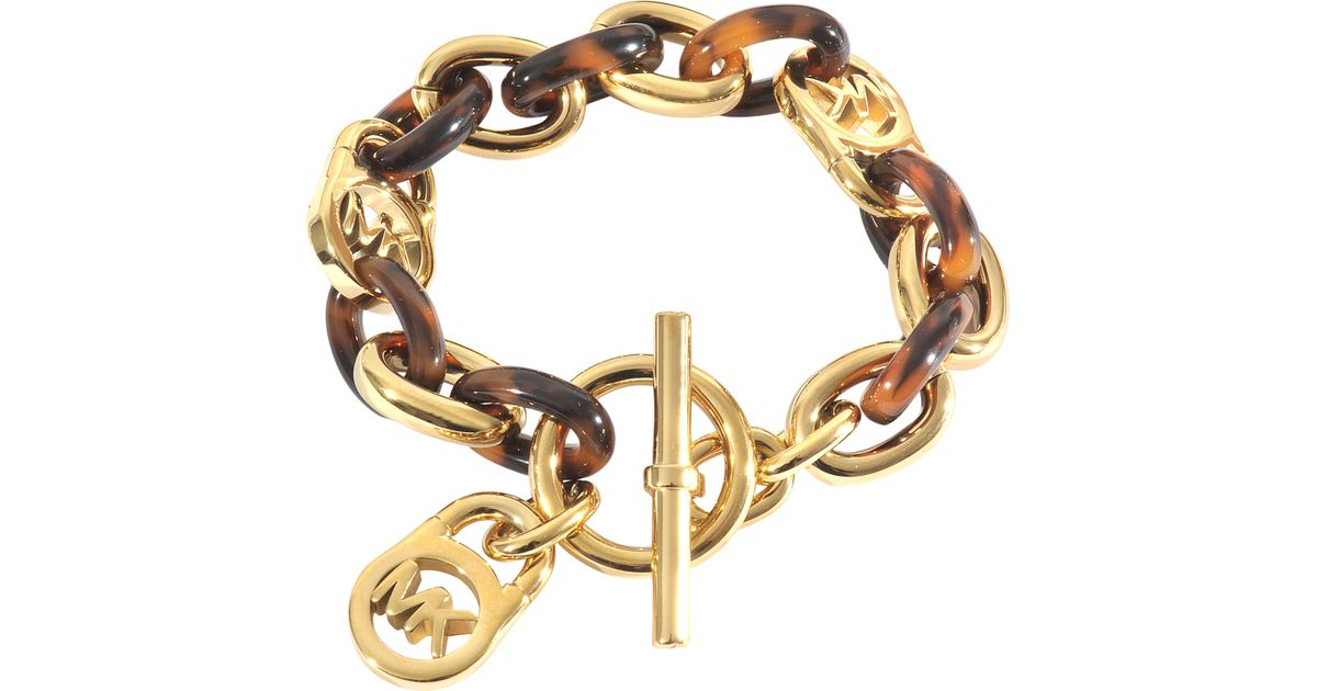 michael michael kors armband heritage in gold lyst