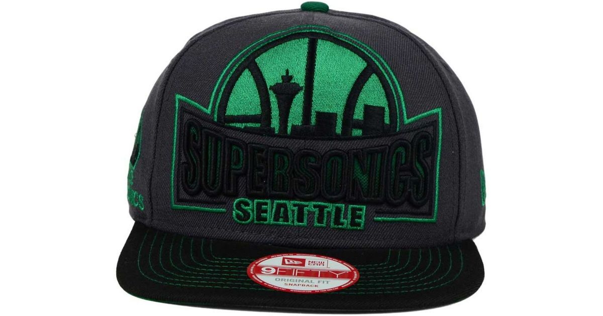 huge discount d6277 02452 Lyst - KTZ Seattle Supersonics Grader 9fifty Snapback Cap in Green for Men