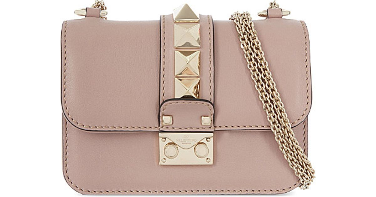15431005bc8 Valentino Rockstud Lock Mini Clutch Bag - Lyst
