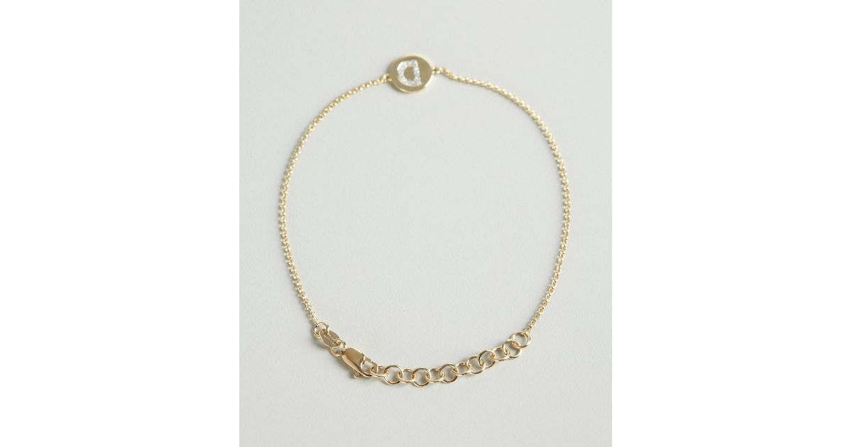 Lyst kc designs gold and diamond d initial pendant bracelet in lyst kc designs gold and diamond d initial pendant bracelet in metallic mozeypictures Images
