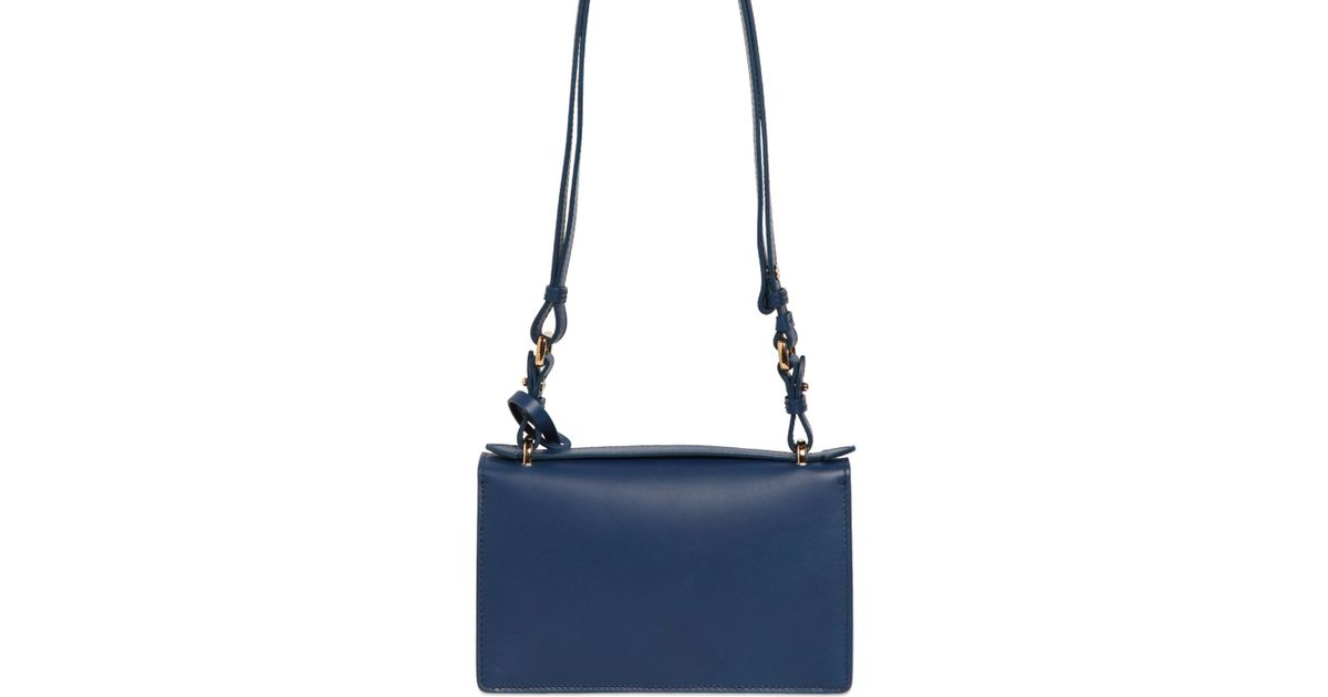 ce4ee6d33b5e Lyst - Ferragamo Small Aileen Smooth Leather Bag in Blue