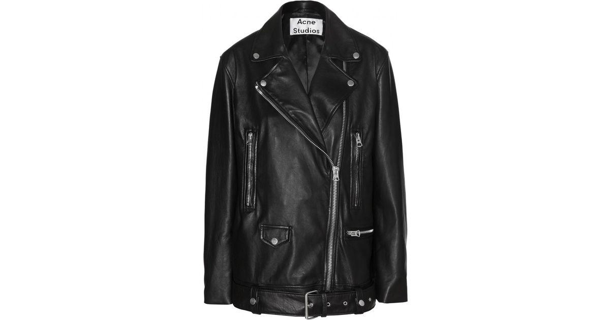 6ae6f2b54 Acne Studios - Black More Oversized Leather Jacket - Lyst