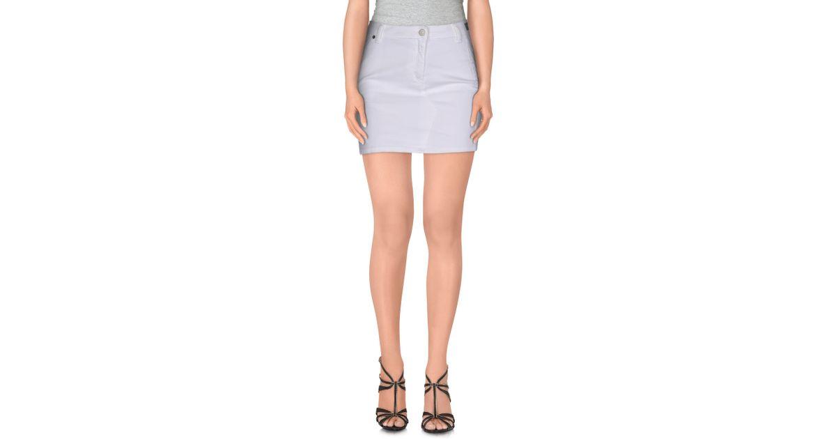 kooka 239 mini skirt in white lyst