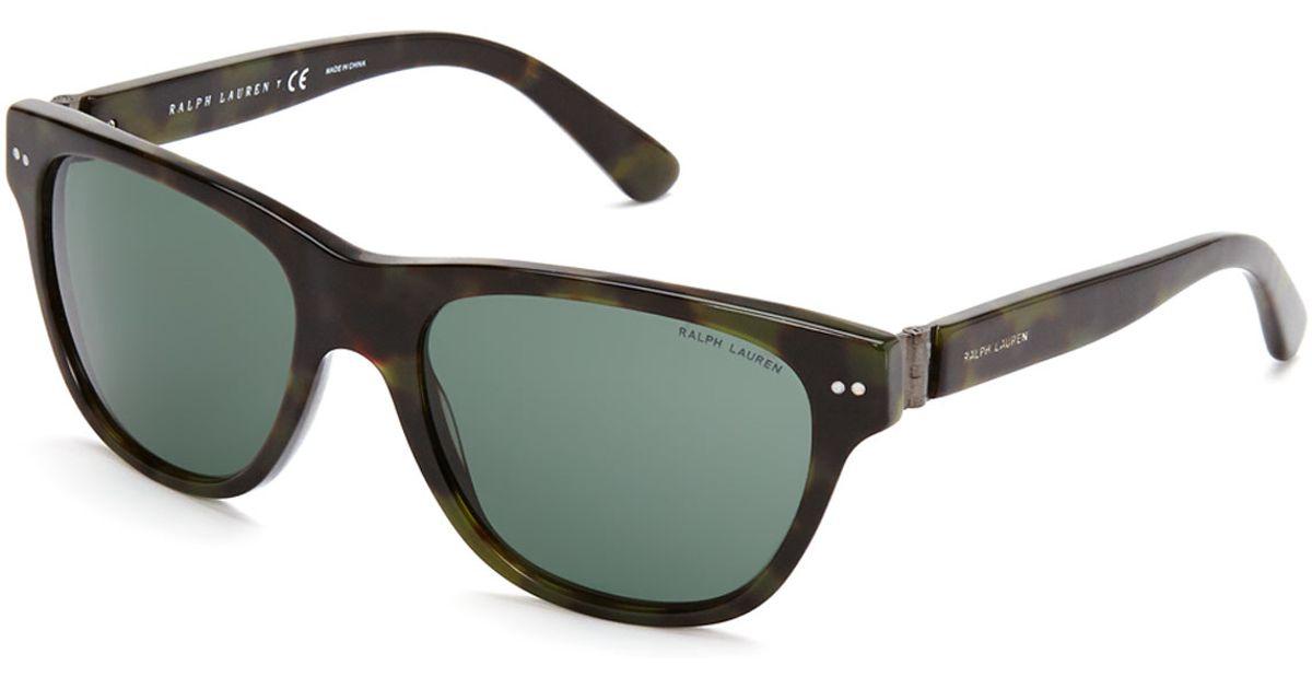 60b034af78 Lyst - Ralph Lauren Ph 4080 Green Tortoiseshell-Look Wayfarer Sunglasses in  Black for Men