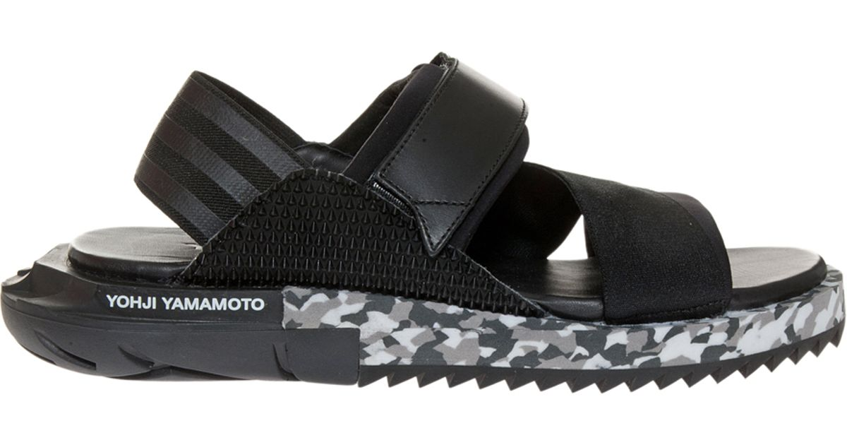3e78974e4 Lyst - Y-3 Kaohe Sandals in Black for Men