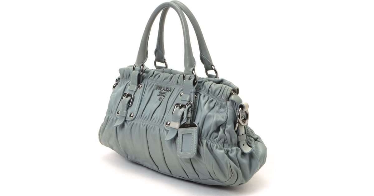 8781f57c23ec Lyst - Prada Nappa Gaufre Bag - Vintage in Gray