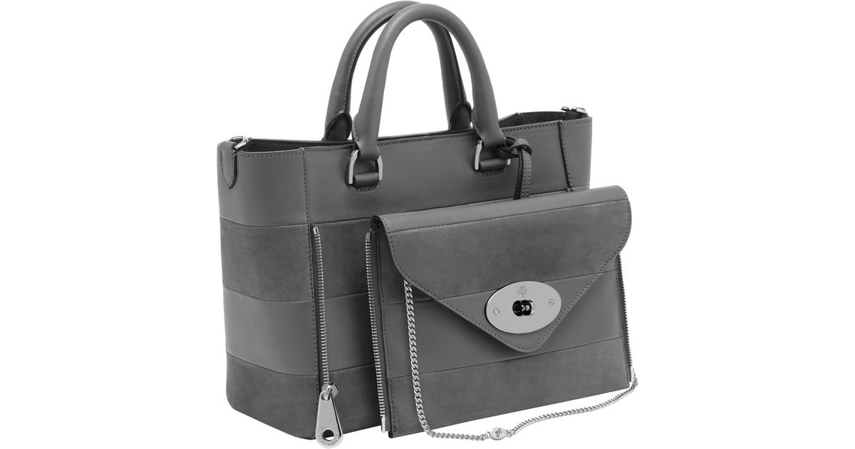 826829637c Lyst - Mulberry Small Willow Tote in Gray