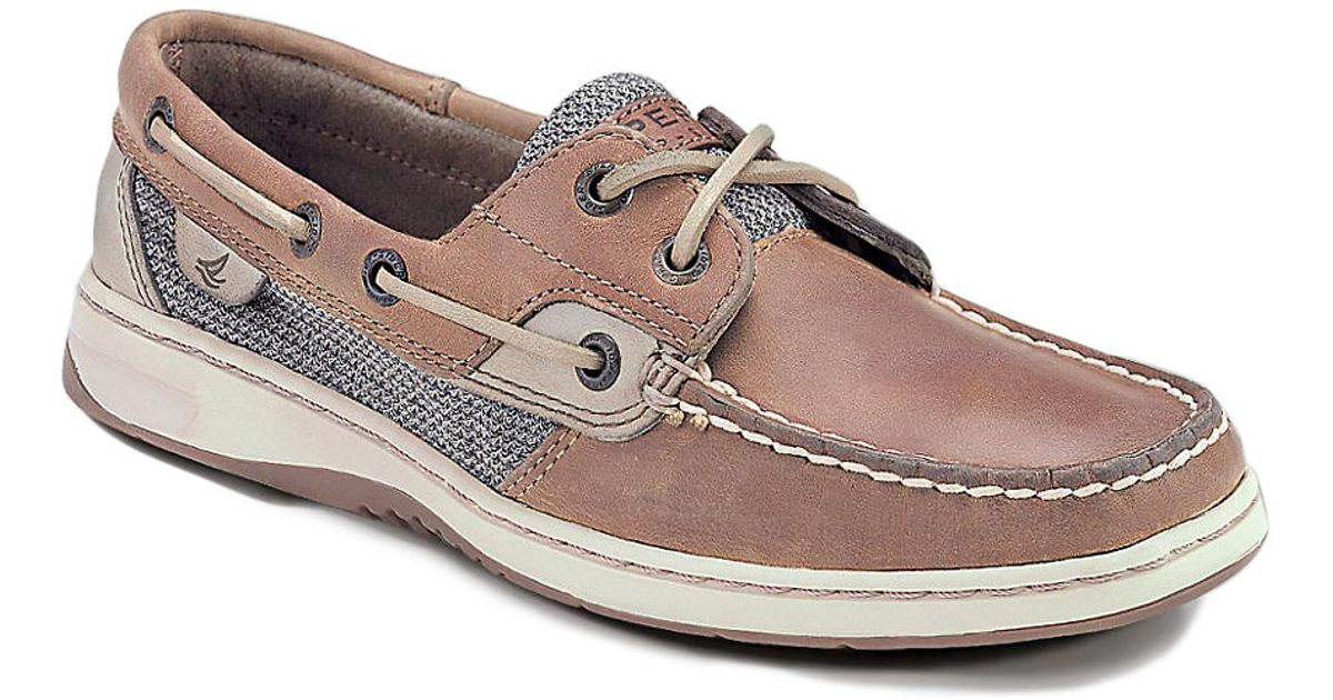 sperry top sider bluefish water resistant leather boat