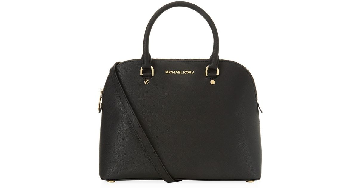 Michael Kors Cindy Laukku : Michael kors cindy satchel in black lyst