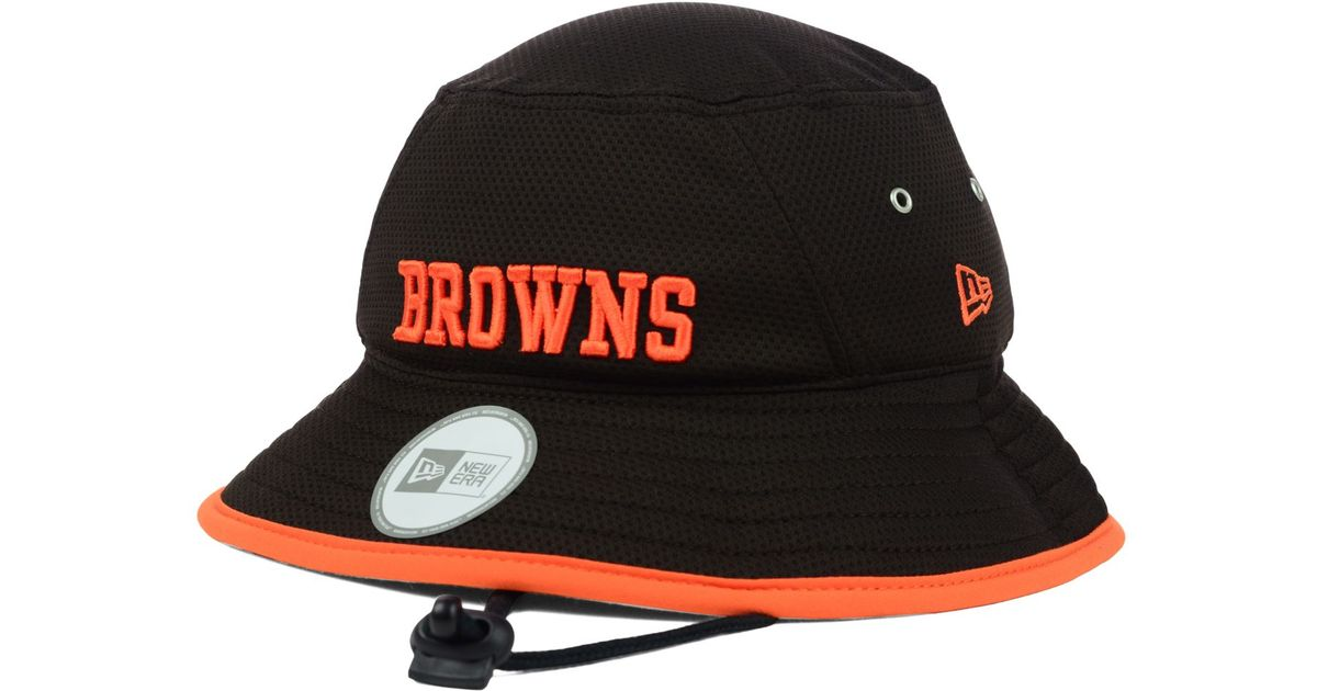 2864575a2 Lyst Ktz Cleveland Browns Tc Training Bucket Hat In Brown For Men