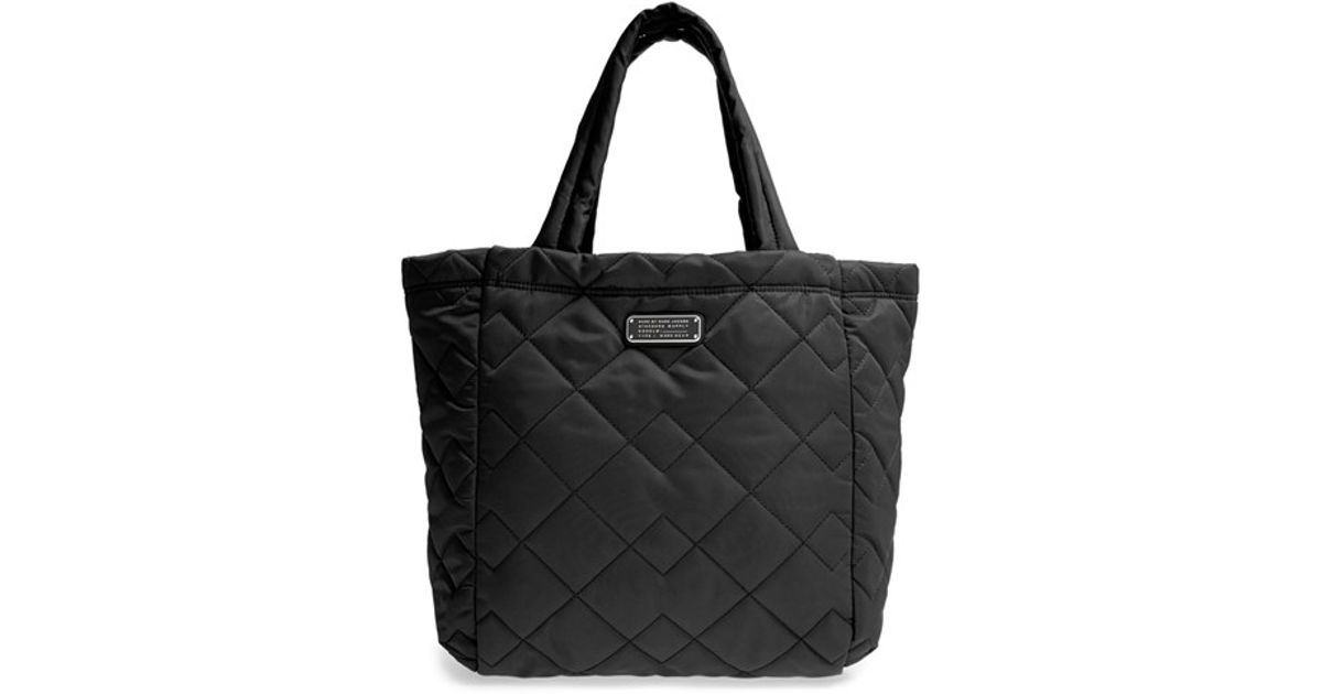 Marc by marc jacobs 'crosby' Quilted Nylon Tote in Black | Lyst : marc jacobs black quilted bag - Adamdwight.com