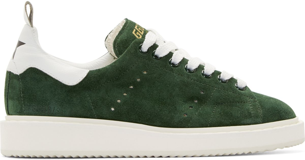 White and Green Starter Sneakers Golden Goose 0rDzwSyhy