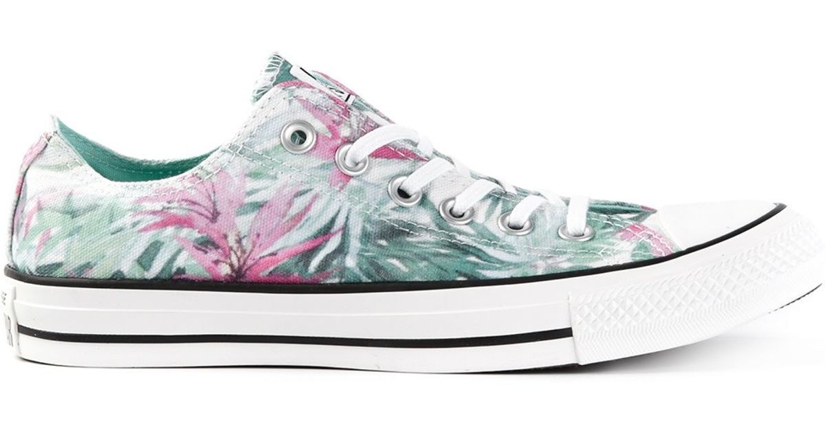 4ae4314af639 Lyst - Converse Floral Print Sneakers in Green