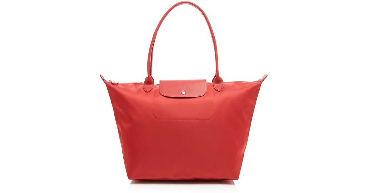 Lyst - Longchamp Tote - Le Pliage Neo Large in Red fcf4be7f6dd9f