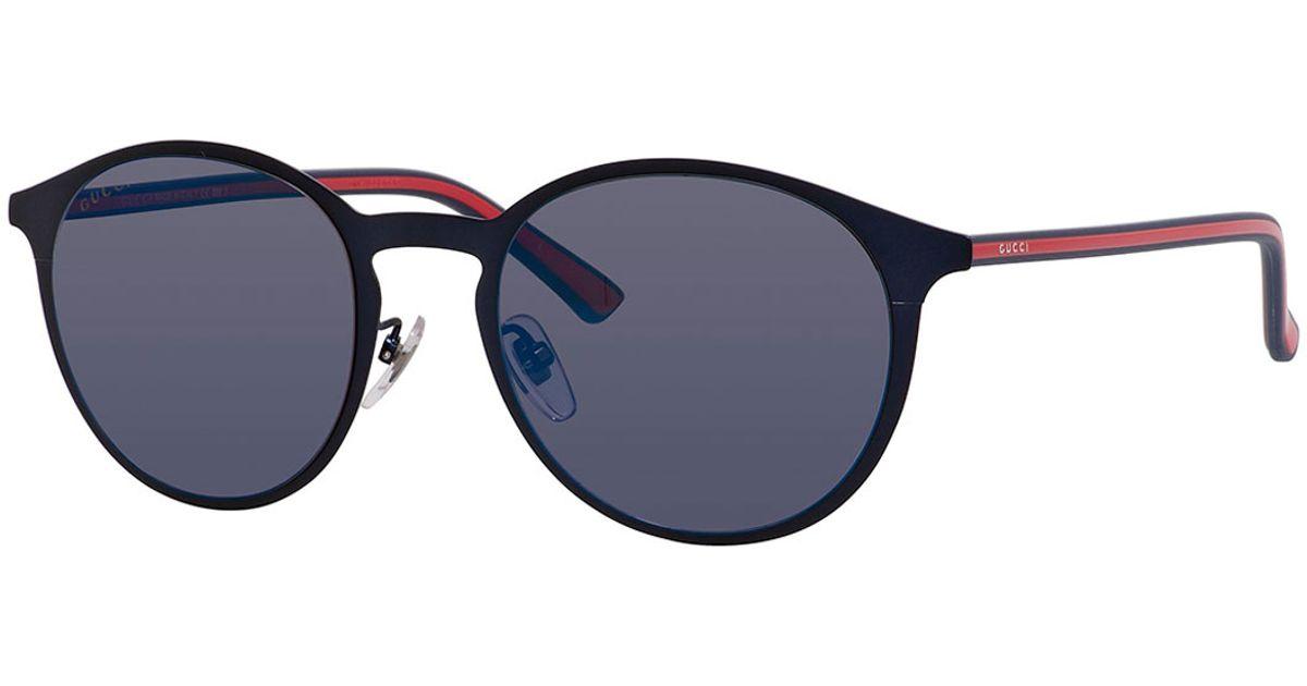 df531e0a6530 Lyst - Gucci Polarized Round Metal Sunglasses in Blue