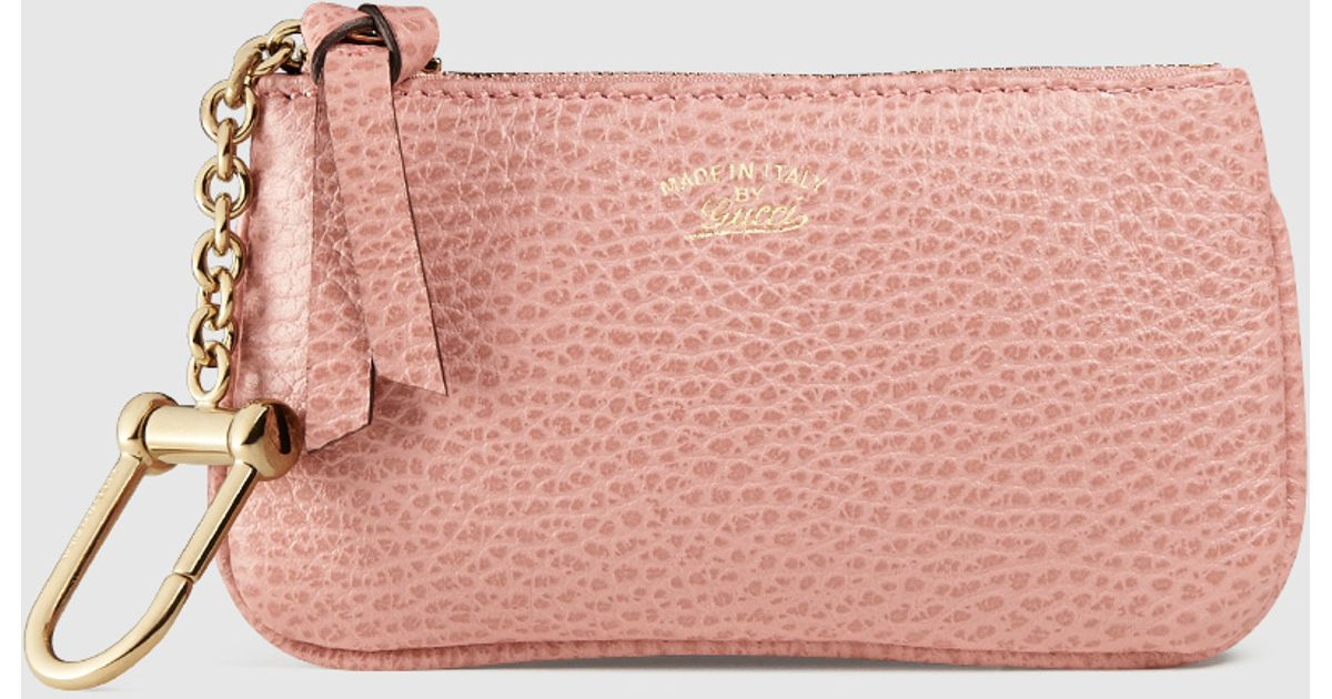 f573aedece9 Lyst - Gucci Swing Leather Coin Purse in Pink