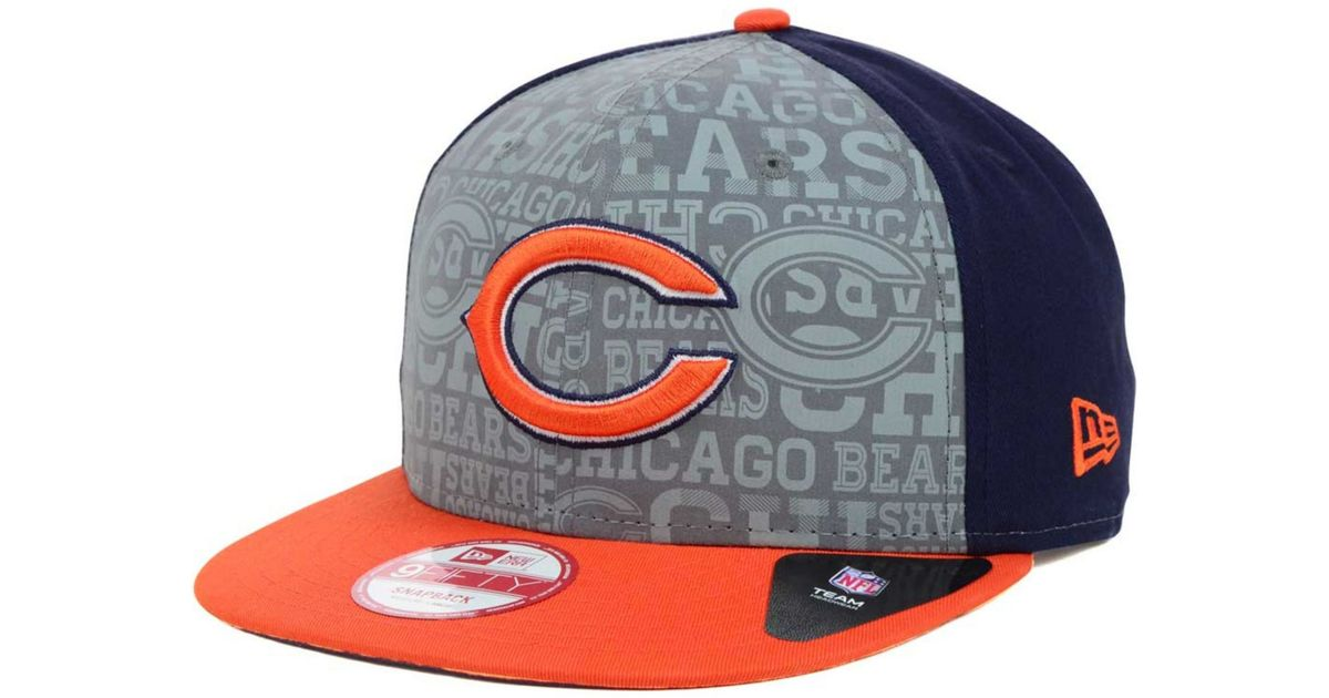 new product 74c18 f0999 shop lyst ktz chicago bears nfl draft 9fifty snapback cap in blue for men  bf443 5d4de