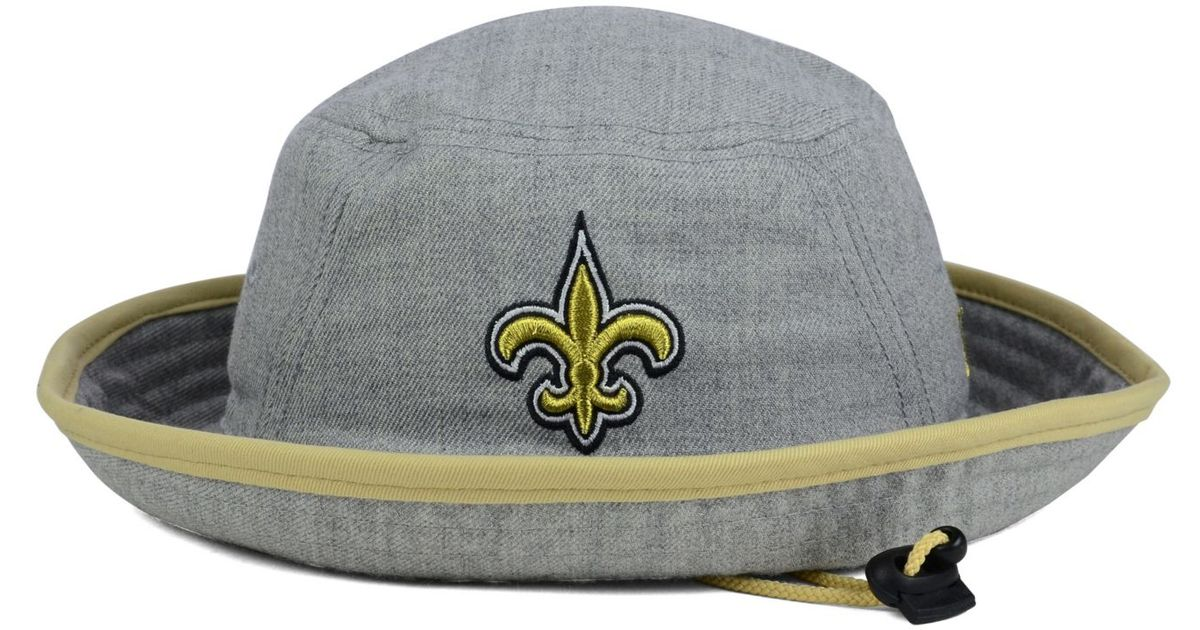 0fefe568641 Lyst - KTZ New Orleans Saints Nfl Heather Gray Bucket Hat in Gray