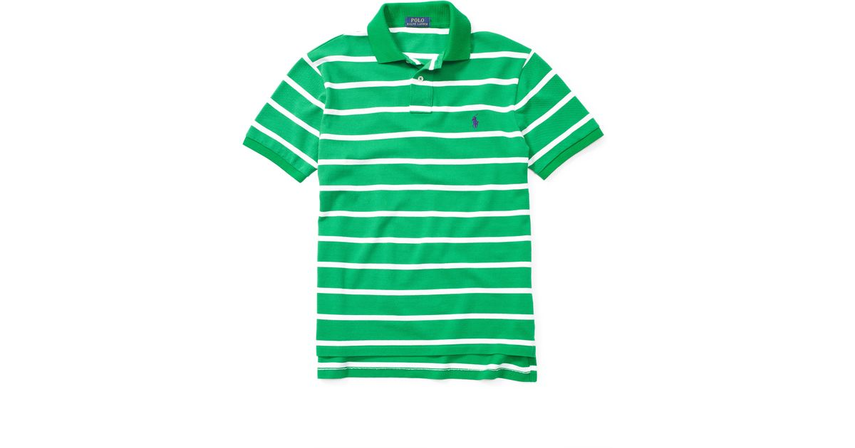 Lyst - Polo Ralph Lauren Classic-fit Striped Polo Shirt in Green for Men 48667e4ac4