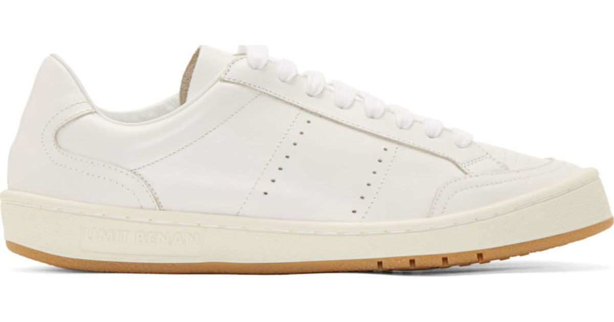 4d8e1b461390 Lyst - Umit Benan White Leather Classic Tennis Shoes in White for Men
