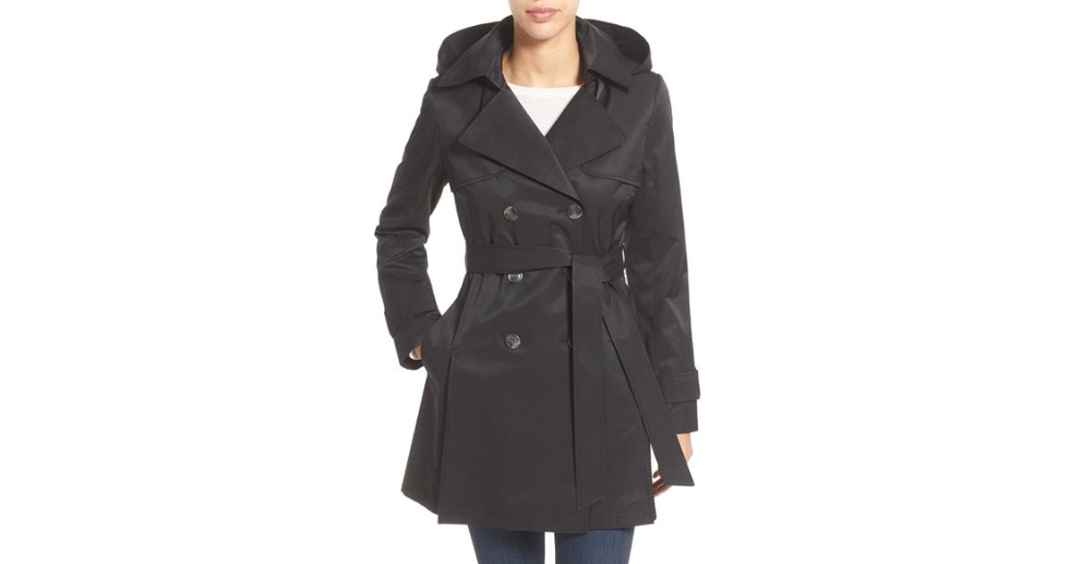 black trench coat with hood - photo #28