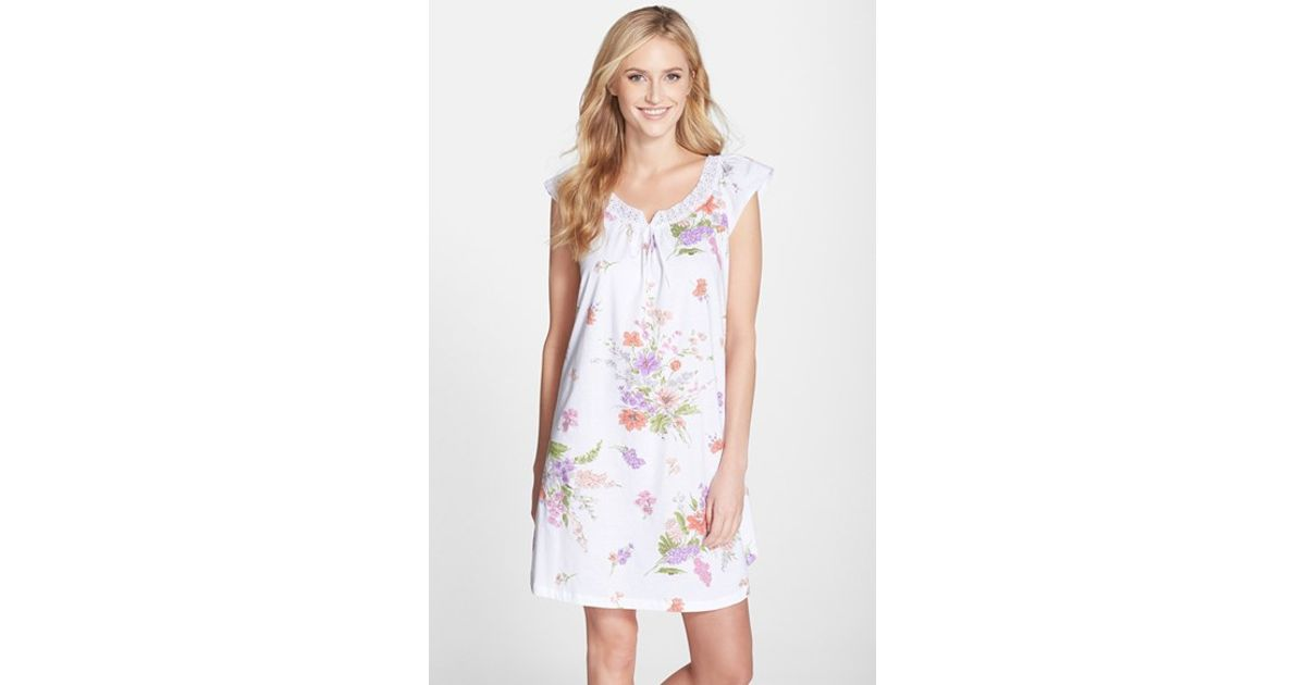 3beb1c3bde05 Lyst - Carole Hochman 'windswept Flowers' Short Nightgown