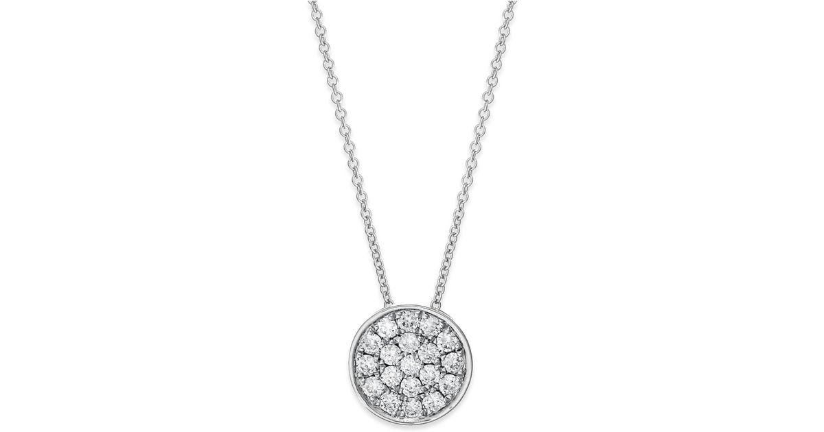 Effy Collection Trio By Effy Diamond Disc Pendant Necklace