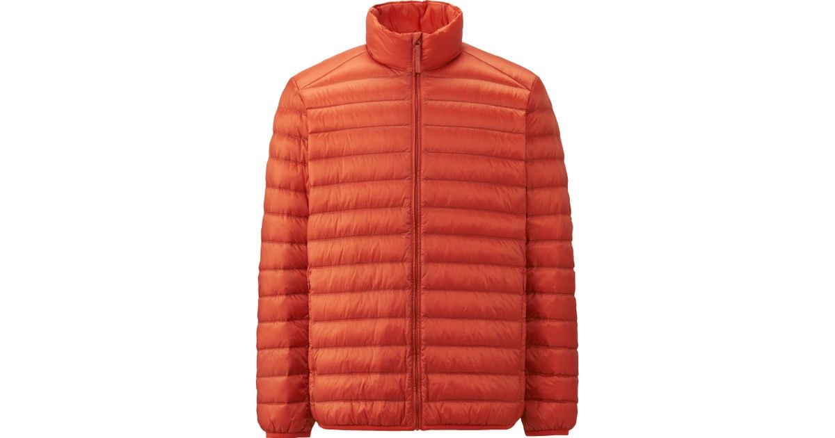 uniqlo men ultra light down jacket in orange for men save 13 lyst. Black Bedroom Furniture Sets. Home Design Ideas