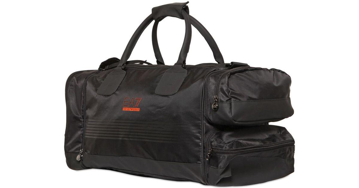 107e8dd5f0 Lyst - Emporio Armani Nylon Canvas Smart Gym Duffle Bag in Black for Men