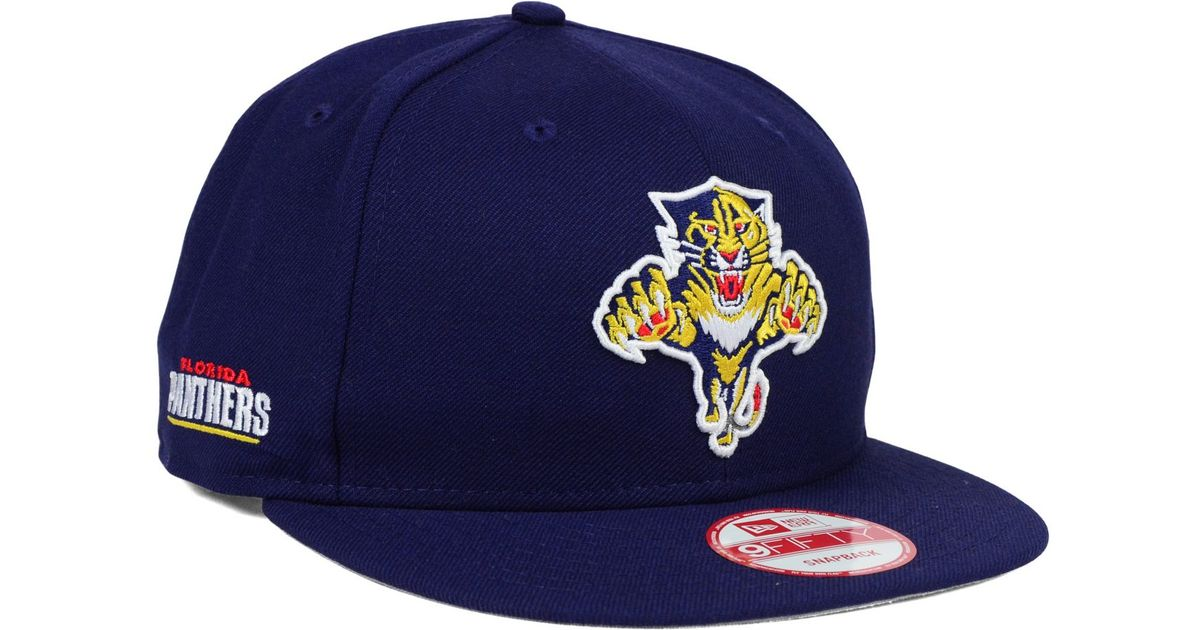 finest selection 75e32 21d9d spain lyst ktz florida panthers all day 9fifty snapback cap in blue for men  c2928 440ef