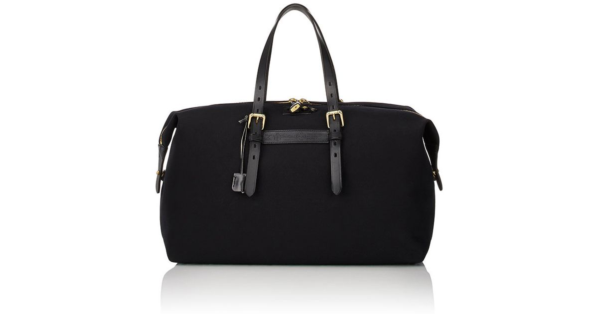 5ab099f78b23 Lyst - Felisi Men s Leather-trimmed Duffel in Black for Men