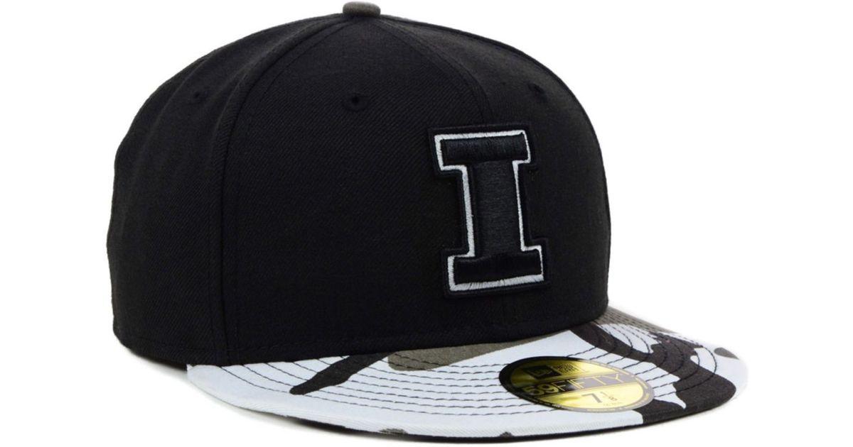 the latest ce3d7 e72a2 Lyst - KTZ Illinois Fighting Illini Ncaa Urban Camo 59Fifty Cap in Black  for Men