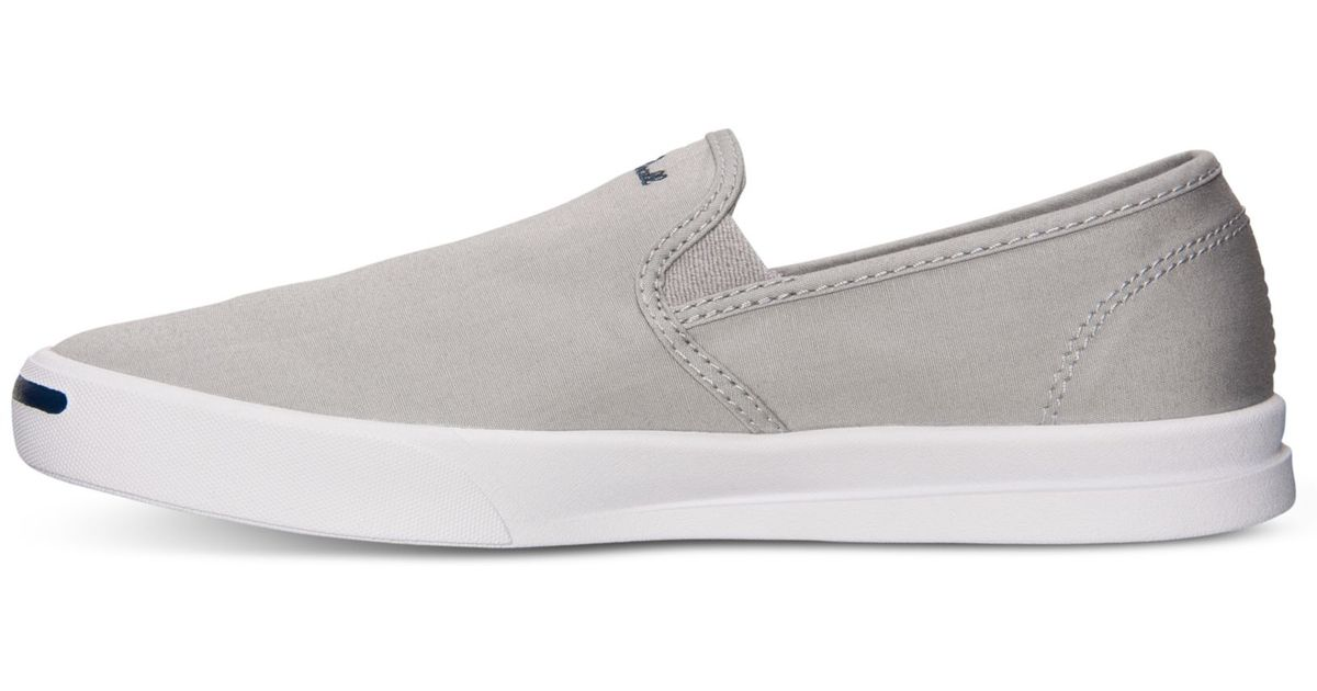 5c17c6211cc Lyst - Converse Mens Jack Purcell Jeffrey Slip Casual Sneakers From Finish  Line in Gray for Men