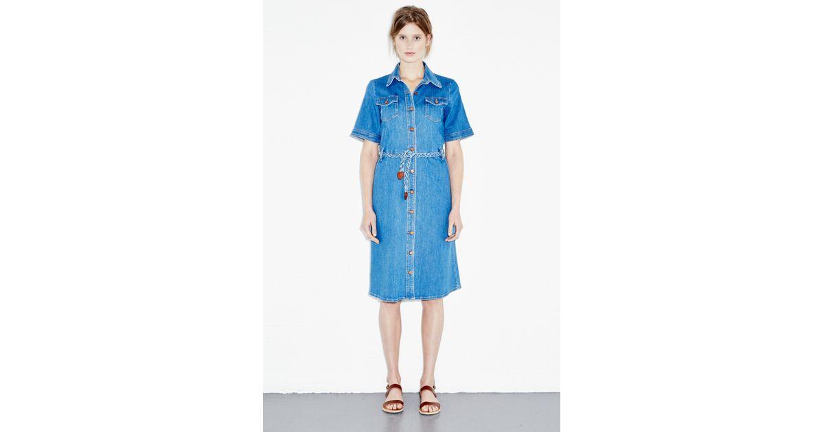 84cac148e66 Lyst - M.i.h Jeans 70S Denim Dress in Blue