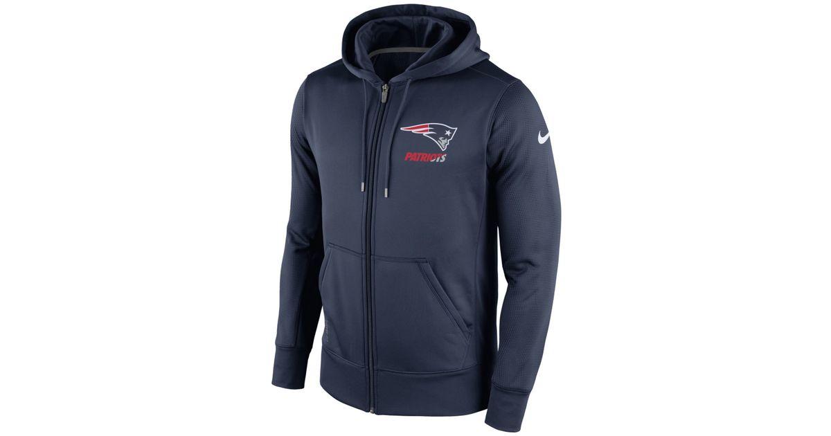 Lyst - Nike Men s New England Patriots Sideline Ko Fleece Full-zip Hoodie  in Blue for Men 12e21dca9