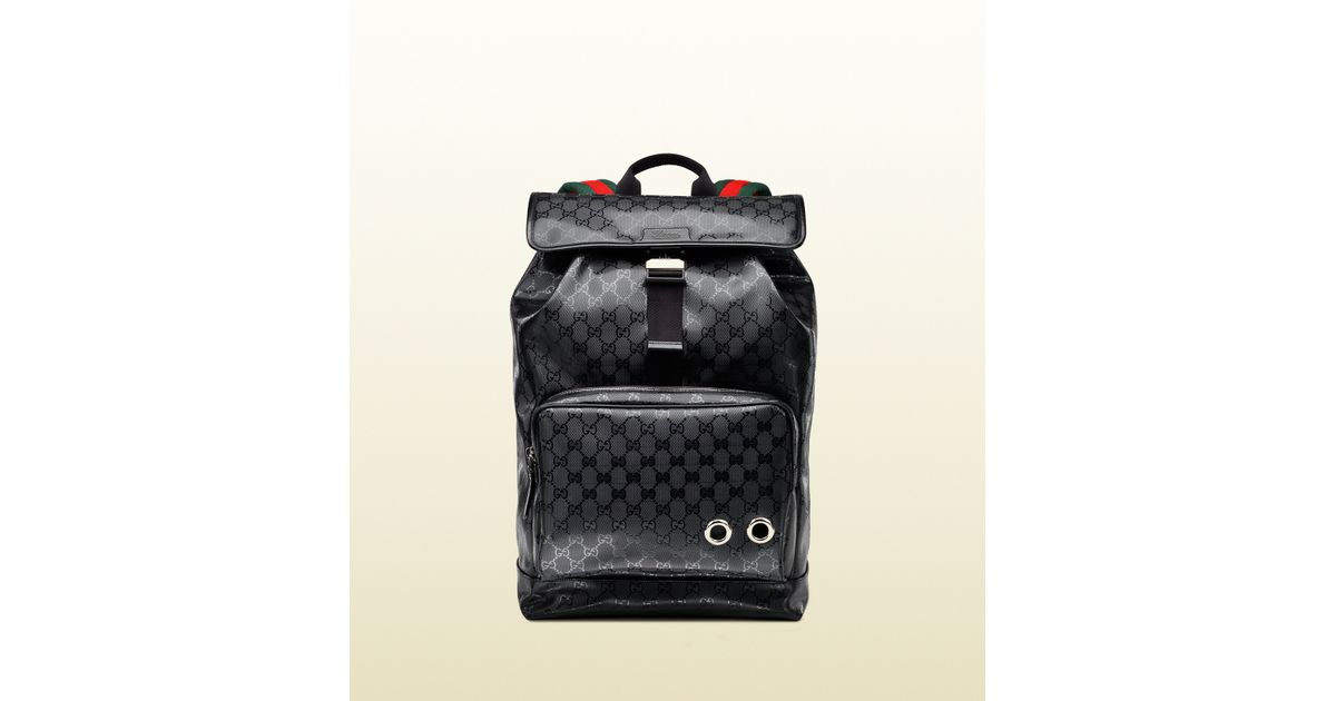 Lyst - Gucci 500 By Gg Imprimé Backpack in Black for Men 0ef72de34f
