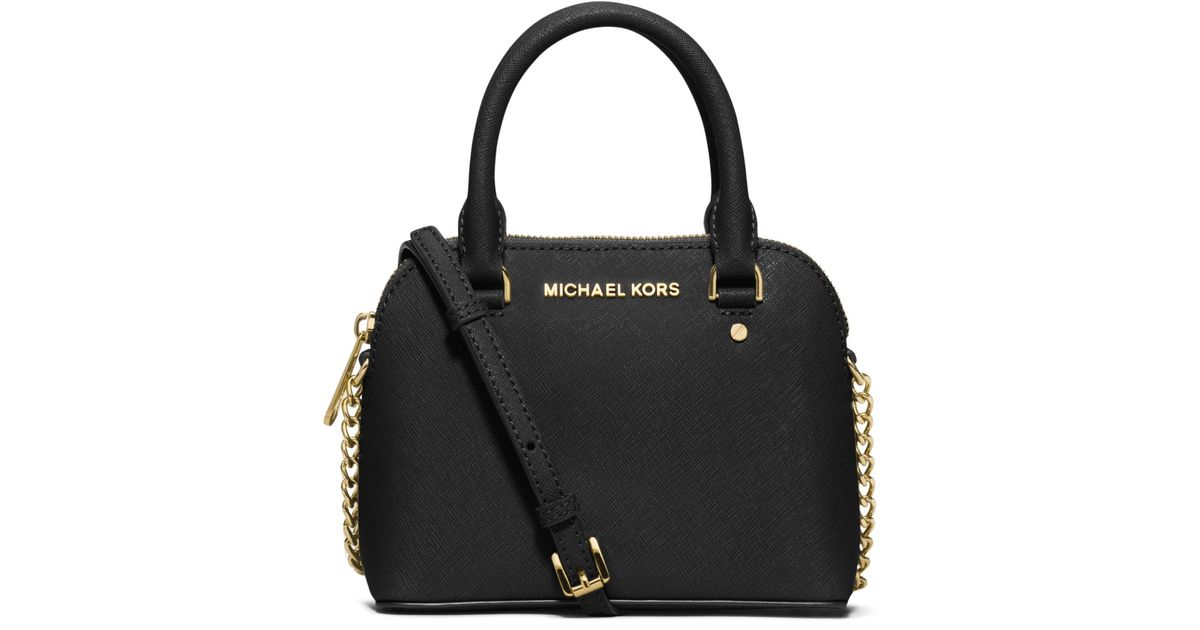 94e316761bd8 Michael Kors Cindy Extra-small Saffiano Leather Crossbody in Black - Lyst