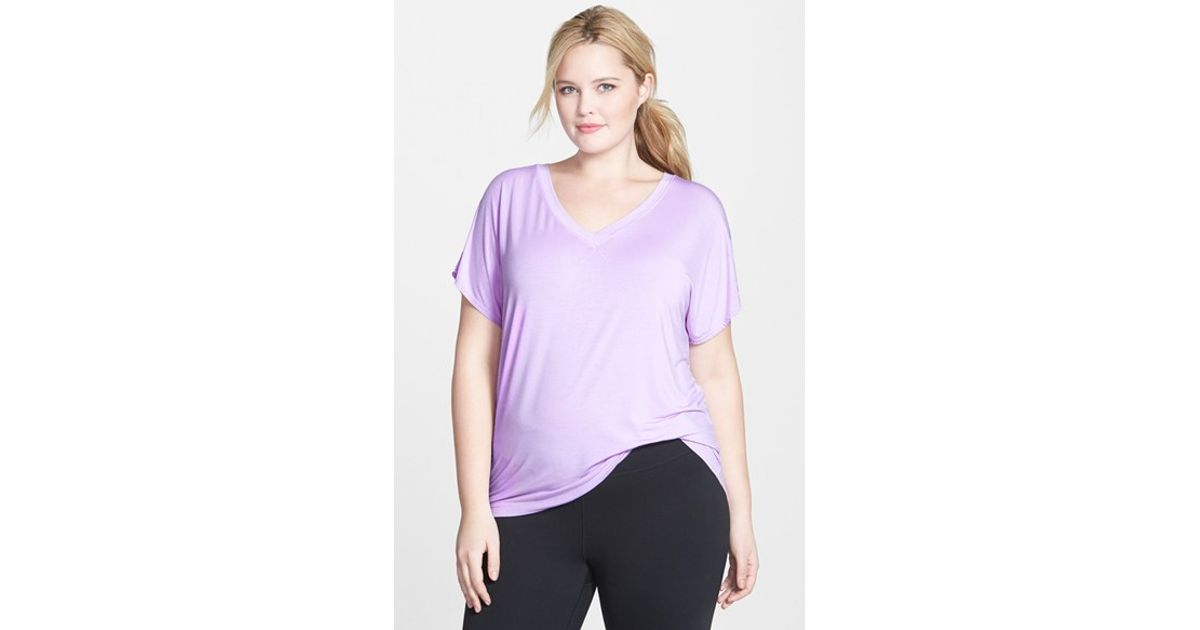 40562b7a4f1 Lyst - Hard Tail Slouchy V-neck Tee in Purple