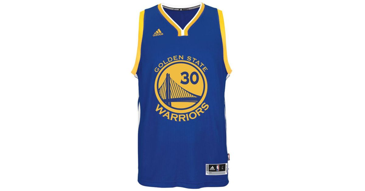 b75f2417335 adidas Kids  Stephen Curry Golden State Warriors Swingman Jersey in Blue  for Men - Lyst