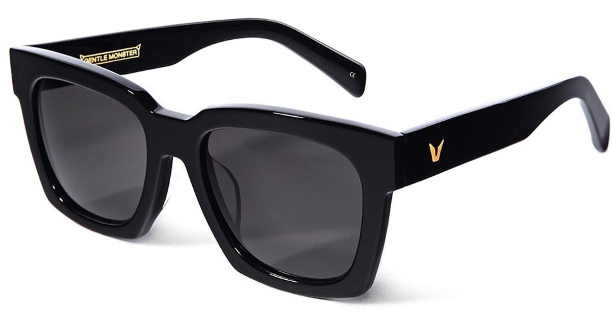 3bdbc73a2d Gentle Monster Absolute 2 Black Square-frame Sunglasses in Black - Lyst