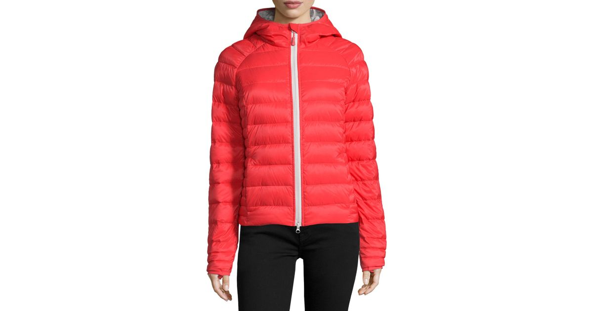 Canada Goose down outlet fake - Canada goose Brookvale Quilted Hoodie Puffer Jacket in Red (TORCH ...